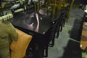 Sale 8368 - Lot 1082A - Modern Nine Piece Timber Dining Setting incl. Table & Eight Chairs
