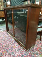 Sale 8576 - Lot 1036 - Antique Cedar & Pine Bookcase, with two sliding glass panel doors & adjustable shelves