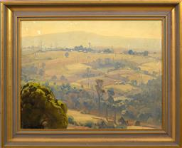 Sale 9150J - Lot 67 - ERNEST BUCKMASTER (1897 - 1968) Landscape oil on canvas 34 x 45 cm signed lower left
