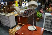 Sale 8019 - Lot 1047 - Pair of Snake Neck Table Lamps