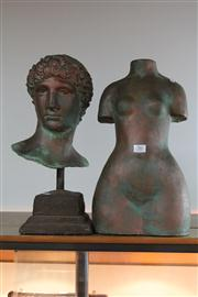 Sale 8327 - Lot 56 - Composite Female Torso & a Male Head