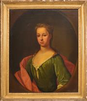 Sale 8382 - Lot 568 - René Auguste Constantyn (active 1712 - 1726) - Mary Clerembault 74 x 60.5cm