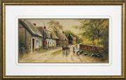Sale 8422T - Lot 2073 - A. Graye (XIX) - Village Way 23.5 x 49cm