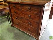 Sale 8485 - Lot 1088 - Early 19th Century Mahogany Chest of Five Drawers, with turned columns & bun feet