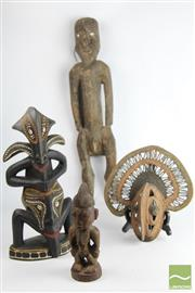Sale 8496 - Lot 82 - Cultural Figural And Others Items incl Yam Mask , Mainly PNG