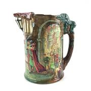 Sale 8545N - Lot 52 - Royal Doulton Loving Jug The Pied Piper, 118/600 (H: 26.5cm)