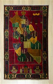 Sale 8585C - Lot 96 - Afghan Map 148cm x 85cm