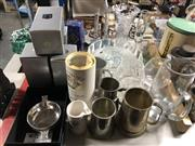 Sale 8702 - Lot 2488 - Sundries incl Pewter wares, Glass & Crystalwares etc