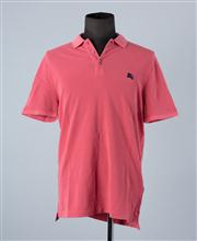 Sale 8770F - Lot 27 - A Burberry Brit cotton polo in dusty pink, size XL