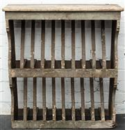 Sale 8942H - Lot 50 - A distressed pine plate rack of two tiers, Height 86cm, Width 75cm x depth 23cm