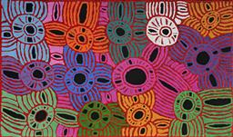 Sale 9098A - Lot 5021 - Glenys Gibson Nungurrayi (1968 - ) - Women's Ceremony 118 x 200 cm (stretched and ready to hang)