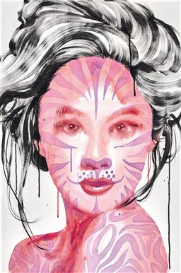 Sale 9153A - Lot 5001 - SONG LING (1961 - ) - Beauty and the Beast 22, 2012 91 x 60.5 cm