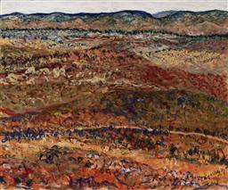 Sale 9178 - Lot 558 - MITCHELL KELLY (1981 - ) Over Yonder in the Outback Country acrylic on canvas 153 x 183 cm signed, dated and titled verso
