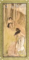 Sale LM7875 - Lot 2 - NORMAN LINDSAY (1879-1969) - The Idylls (Study for Theocrities) c1898 watercolour on paper