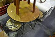 Sale 8134 - Lot 1080 - Cafe Setting inc Table w 2 Chairs