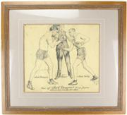 Sale 8239 - Lot 11 - Jack Dempsey Signed Lithograph of 1913 Colorado Fight