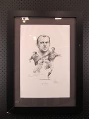 Sale 8578 - Lot 89 - Clive Rowlands 10/100 - limited edition print by Craig Primrose, signed and numbered by the artist; framed