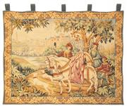 Sale 8599A - Lot 92 - A vintage tapestry depicting a hunting scene, H 99 x W 115cm.