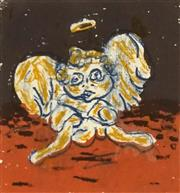 Sale 8707 - Lot 2007 - Artist Unknown - Cherub, 1994 14.5 x 14.5cm (frame: 50.5 x 50.5cm)