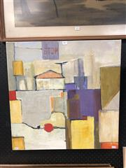 Sale 8789 - Lot 2077 - Artist Unknown - Urban Town Scene, acrylic on canvas, 61 x 61cm, signed verso