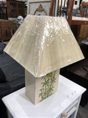 Sale 8801 - Lot 1583 - Ceramic Table Lamp With Bamboo Motifs