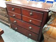 Sale 8814 - Lot 1002 - Late 19th Century Cedar Chest of Four Drawers, two modelled as faux double drawers (missing feet)