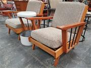 Sale 8872 - Lot 1082 - Pair of Australian Maple Armchairs