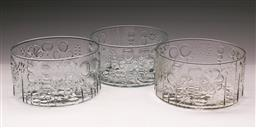 Sale 9098 - Lot 58 - A Garniture of Oiva Toikka Style Clear Flora Bowls, Dia 19.5cm