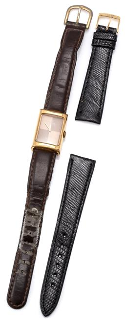 Sale 9124 - Lot 506 - AN OMEGA DEVILLE LADYS AUTOMATIC WRISTWATCH; 2 tone chequerboard dial, 24 jewel cal. 661 self wind movement with 2 adjustments, gol...