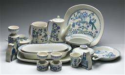 Sale 9168 - Lot 43 - A large collection of Norwegian Lotte ceramics