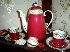 Sale 7383 - Lot 46 - Fifteen piece Spode coffee service with Red & Gilt decoration