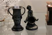 Sale 7998 - Lot 83 - Spelter Putti with Bucket and Grecian Style Urn