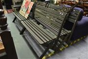 Sale 8127 - Lot 870 - Set Of Four Timber Outdoor Benches