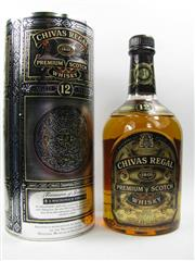 Sale 8225 - Lot 1769 - 1x Chivas Regal 12YO Blended Scotch Whisky - in Treasures of Scotland canister
