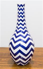 Sale 8308A - Lot 193 - Contemporary pottery vase with zig-zag design from the Muse Ziggy, height 44cm