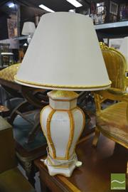 Sale 8386 - Lot 1072 - Pair of Ceramic Table Lamps