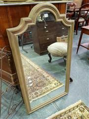 Sale 8462 - Lot 1096 - Oak Framed Vanity Cabinet with Shaped Mirror