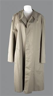 Sale 8493A - Lot 3 - A mens Aquascutum long trench coat, cotton, 42 regular