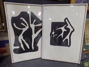 Sale 8561 - Lot 2045 - Michael Noble (1919 - 1993) (2 works) - Dancers 53 x 37.5cm, each