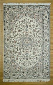 Sale 8585C - Lot 98 - Super Fine Persian Nain Inlaid Silk 329cm x 306cm