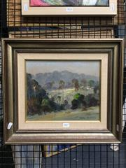 Sale 8789 - Lot 2080 - Terry Gleeson (1934 - 1976) - Ourimbah Landscape, oil on board, 25.5 x 30cm, signed lower right -