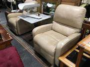 Sale 8851 - Lot 1094 - Pair of Reclining Leather Armchair