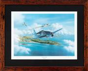 Sale 8868H - Lot 75 - Jay Ashurst, Raid on Turk. A framed, limited edition print signed by Alex Ferucci, a most impressive Hellcat fighter pilot, edition...
