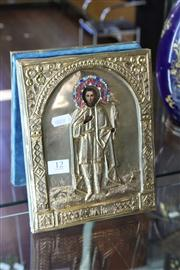 Sale 8160 - Lot 12 - Russian Gilded Icon