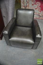Sale 8406 - Lot 1171 - Leather Studded Green Club Chair