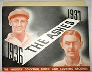 Sale 8460C - Lot 5 - The Ashes 1936–37. The Wrigley Souvenir Book and Scoring Records. Booklet includes scoring sheet. Very good.