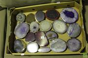 Sale 8499 - Lot 1087 - Box of Polished Agate Slices
