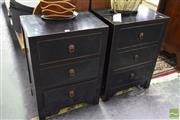 Sale 8542 - Lot 1045 - Pair of Oriental Style Bedsides