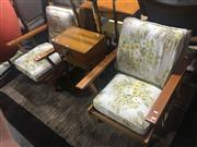Sale 8697 - Lot 1622 - Pair of Vintage Australian Maple Framed Armchairs