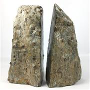 Sale 8758 - Lot 390 - Garnets in Schist Bookends